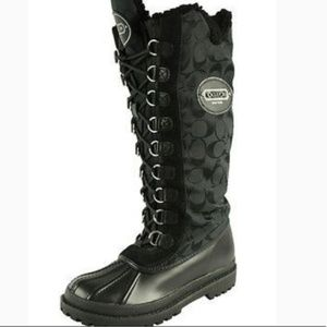 New Coach libby rain/snow, duck toe, Boots sz 9.5